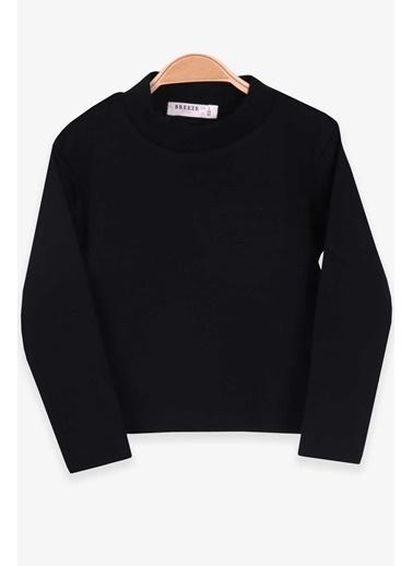 Breeze Kız Çocuk Uzun Kollu Tişört Basic Siyah (2-10 Yaş) Siyah
